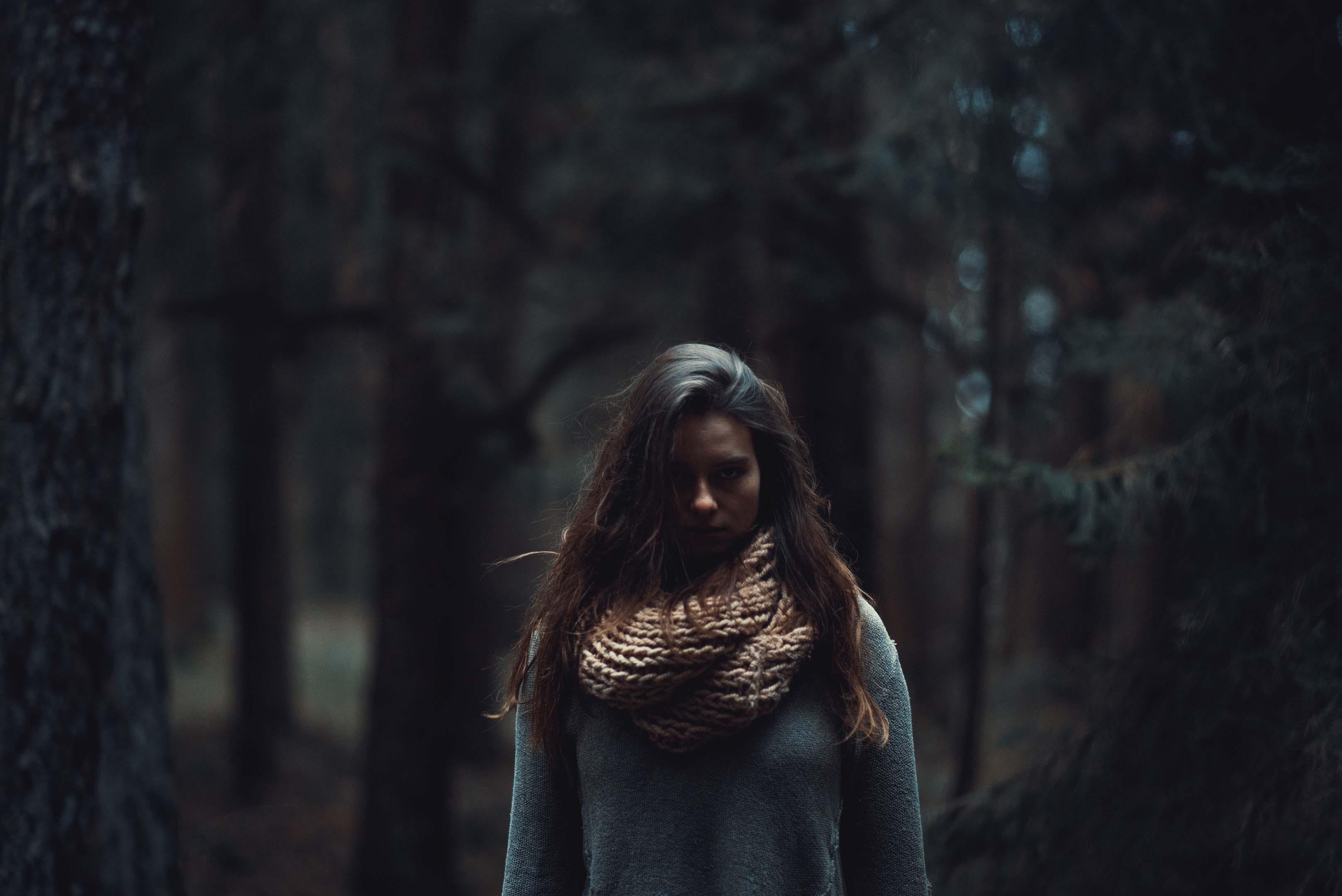 Portraitfoto Beispiel im Wald