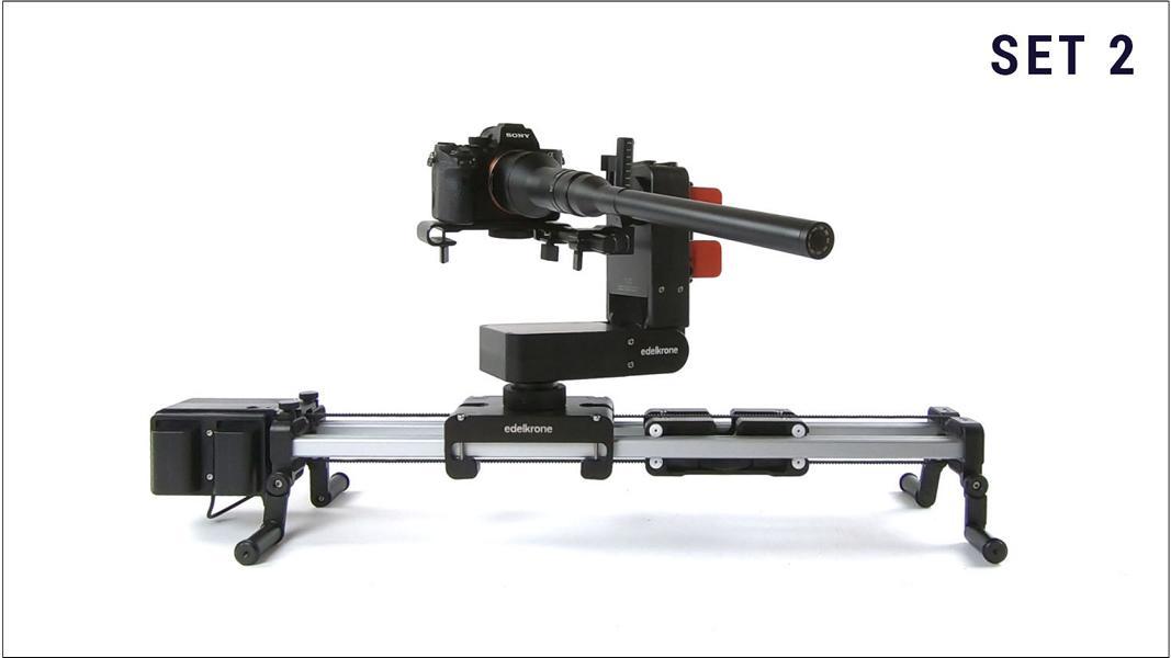 Kameraverleih: Set 2 | Sony A7SII + Edelkrone Slider Plus mit Head Plus + Laowa 24mm Makro Probe Objektiv
