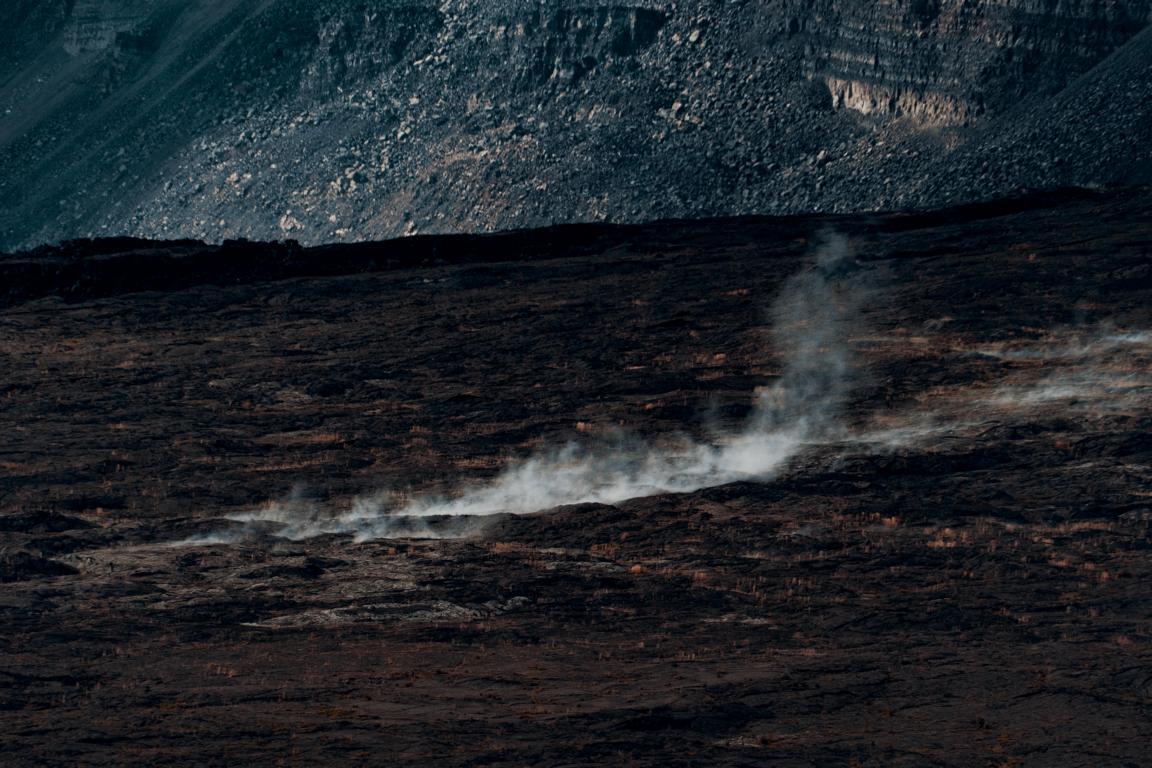 Dampfschwaden im Volcano National Park Hawaii