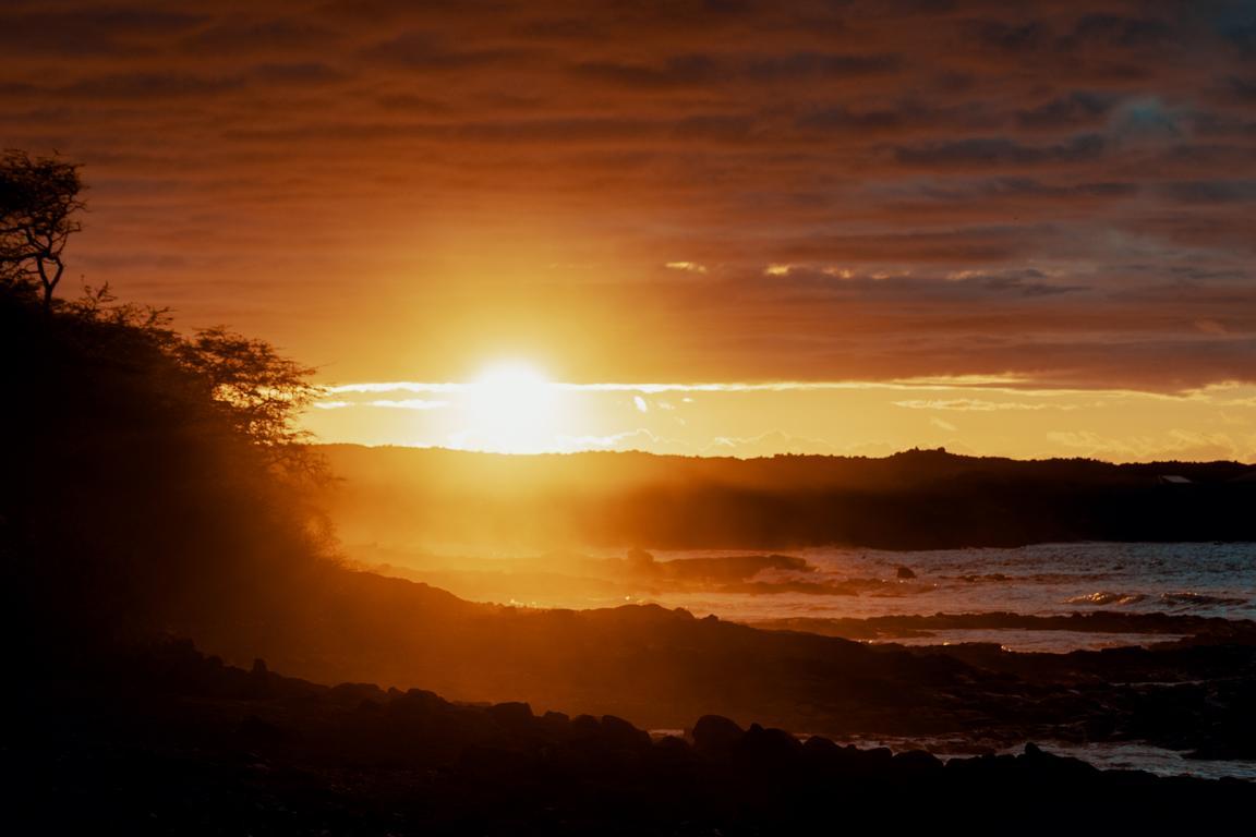 Sonnenuntergang am Strand auf Hawaii